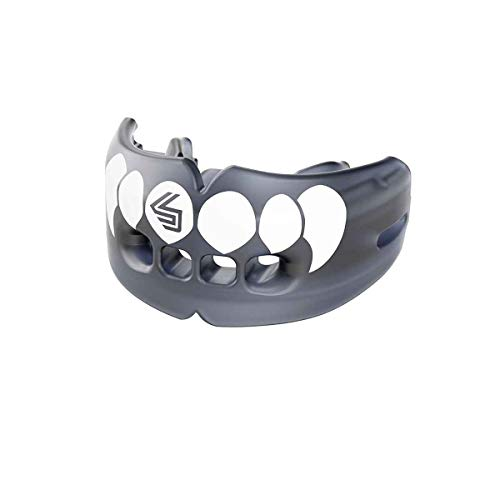 Shock Doctor Double Braces Mouth Guard Sports, Upper & Lower Protection Your Teeth & Braces While Playing Football, Lacrosse, Basketball, Boxing, MMA, Jiu Jitsu, Youth & Adult Sizes