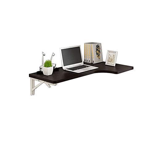 Folding Table-L-Shaped Desktop Corner Folding Table Wall Hanging Wall Table Home Computer Desk Corner Table Black Foldable (Size : B)
