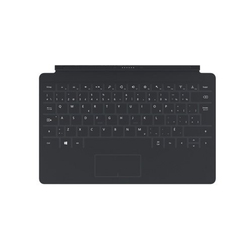 Microsoft Keyboard Layouts - Microsoft Surface 1 Touch Cover Keyboard - French Layout - Black
