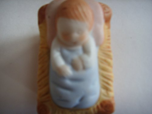 "Homco Christmas Nativity Porcelain 2"" Figurine Vintage 1980s Collectible ; Baby Jesus"