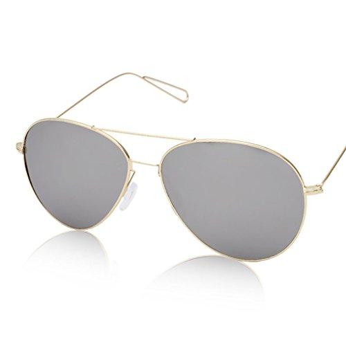 個人的なもう一度親密なメガネ?サングラス 超軽量メタルラージフレームサングラス/明るい色のフィルムメンズと女性の反射サングラス (色 : 1)