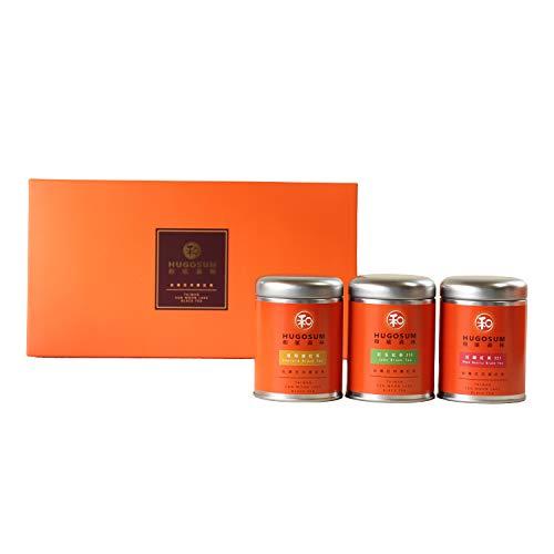 Hugosum | Taiwanese Black Tea Gift Set, Included with Emerald & Jade & Rose Quartz, Variety Black Tea Tin, 100% Natural Loose Leaf Black Tea, 100% Certified, Pure Black Tea, Pack of 3×0.71 oz