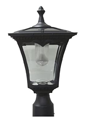 Lily's Home Solar Lamp Post Light - Coach Light with a Deck Mount