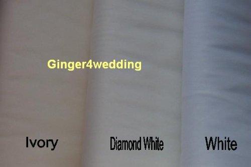 Two-Tier (Blusher) Elbow-Length Pencil Edge White Bride's Veil