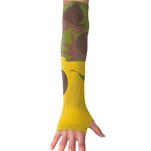Sun Flower Watercolor Yellow Ultra Long Non Finger UV Resistant Gloves Gloves Sleeve, For Women And Men To Provide Sunscreen Protection 1 Pairs, For Outdoor Sports, Driving, Bicycles by WEIFG
