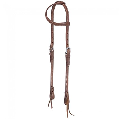 Tough-1 Headstall Single Ply Harness Leather Tie 5 8  Brown 42-1860