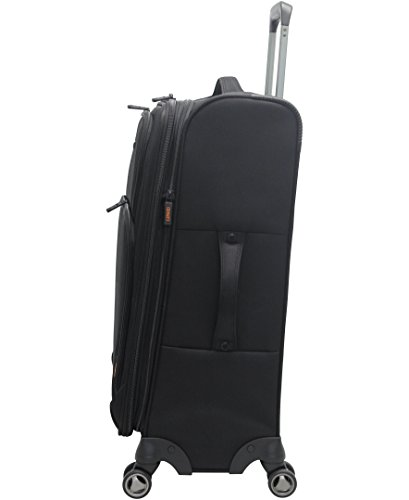 Pathfinder Luggage Presidential Midsize 25'' Suitcase With Spinner Wheels (25in, Black) by Pathfinder (Image #1)