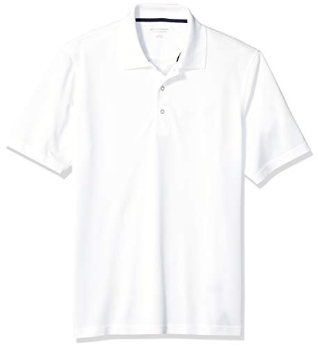 (Amazon Essentials Men's Regular-Fit Quick-Dry Golf Polo Shirt, White, X-Large)