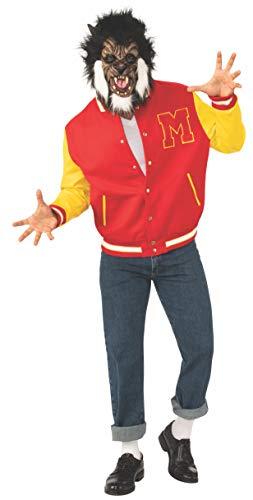 Michael Jackson Thriller Costume (Rubie's Men's Michael Jackson Adult Thriller Werewolf Jacket and Mask,)