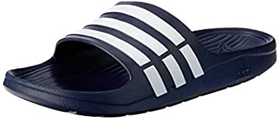 Adidas Duramo Slides Women's Slippers, Dark Blue/White, 4 UK (36 2/3 EU),G15892