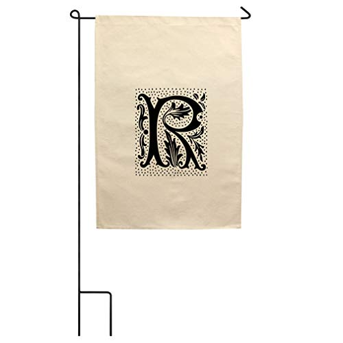 (Style In Print R Wax Seal Initial Monogram Letter R Cotton Canvas Yard House Garden Flag Flag Flag Only 18