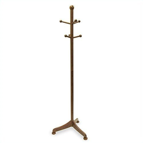 Luxury Home Tan Wood 6-peg Coat Tree by Luxury Home