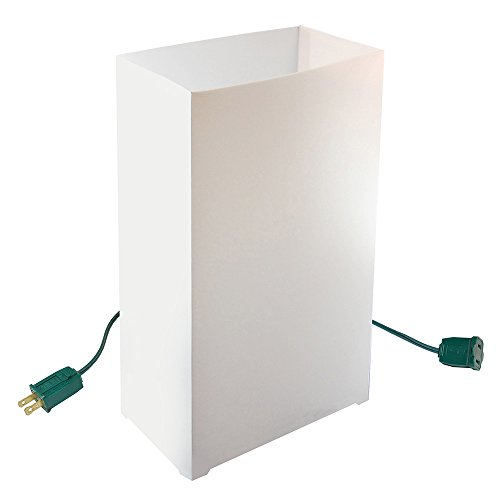 LumaBase 32010 10 Count Electric Luminaria Kit, White Luminaria Kit