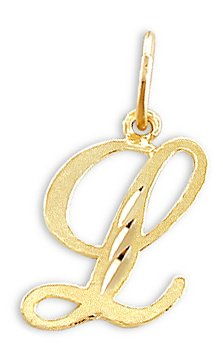 Amazon cursive l letter pendant 14k yellow gold initial solid cursive l letter pendant 14k yellow gold initial solid aloadofball Image collections