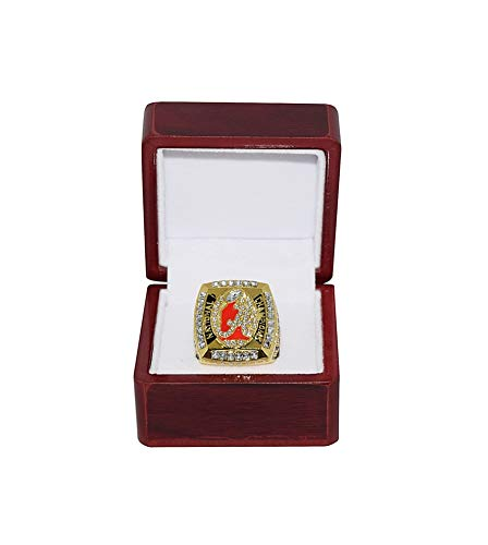 UNIVERSITY OF ALABAMA (Coach Nick Saban) 2012 NCAA BCS NATIONAL CHAMPIONS (Bama Vs. LSU) Crimson Tide Rare Collectible High-Quality Replica Gold Football Championship Ring with Cherrywood Display Box