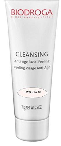 Biodroga cleansing anti-age facial peeling 189gr pro size. ⦁Gentle peeling granules free skin from dirt and flakes