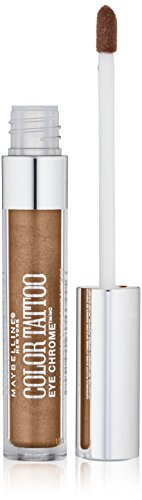 Maybelline New York Color Tattoo Eye Chrome Shadow, Bronze Sheen, 0.11 Fluid Ounce