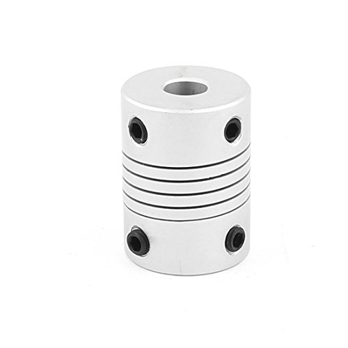 (Uxcell a15113000ux1137 6mm to 8mm Aluminum Alloy Encode Beam Coupling Joint DIY Motor Shaft Adapter )