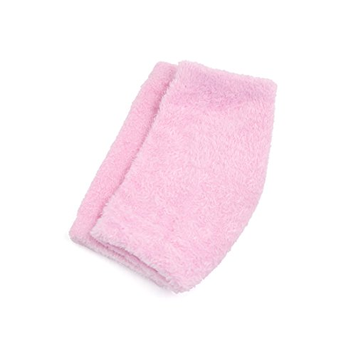 2 Pairs Soften Dry Cracked Skin Moisturizing Exfoliating Elbow Gel Cover Sleeves Pink by uxcell (Image #2)