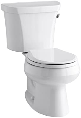 Kohler K-3997-RA-0 Wellworth Round-Front 1.28 gpf Toilet, Right-Hand Trip Lever, White
