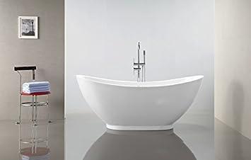 Standarmatur Für Freistehende Badewanne freistehende badewanne valenzia acryl weiß 175x85cm standarmatur