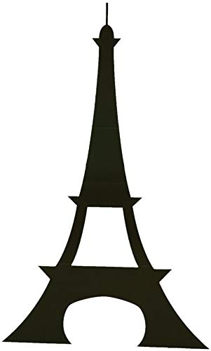 TCDesignerProducts Eiffel Tower Silhouette - 5 Feet High Cardboard Paris Prom Decoration