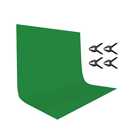 UTEBIT 7x10ft Polyester Green Screen Backdrop Collapsible 2x3m Chroma Key Background with...