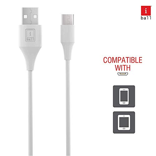 (Renewed) iBall IB-Type-C 1.2M USB Charge & Data Sync 1.2 Meter Long Fast Charging Cable (White)