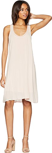 Splendid Women's Rayon Voile Double Layer Dress Pink Beige Medium