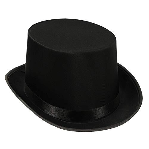 Satin Sleek Top Hat | Black | (1-Unit) (Premium pack)