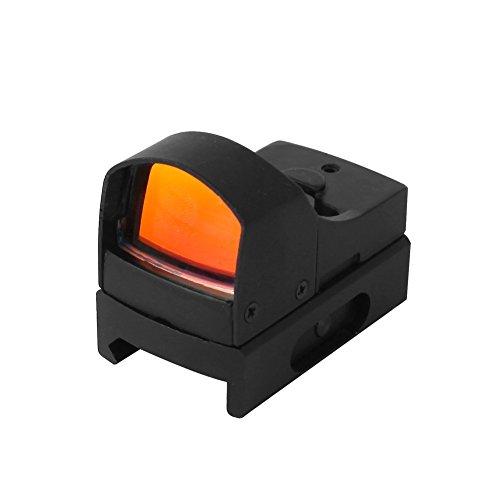 EconoLed Mini Max Reflex Red Dot Sight Dual Brightness Holographic 20mm Weaver Rail Mount