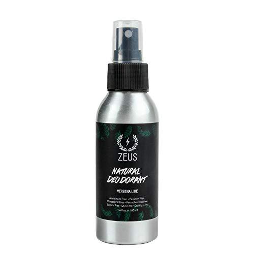 ZEUS Natural Deodorant Spray - Natural Verbena Lime Scent - 3.4 Fluid Ounce!