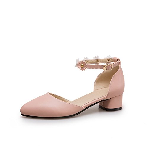 AN Womens Cold Lining Non-Marking Dress Urethane Sandals DIU00937 Pink aovQIoo
