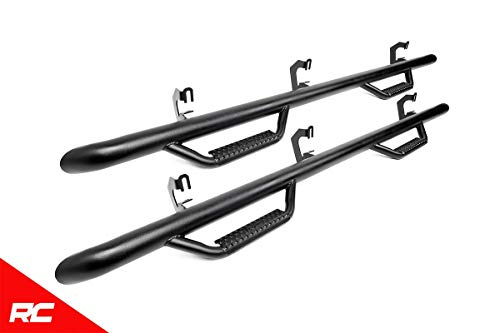 Rough Country Nerf Bar Drop Steps (fits) 2019 RAM Truck 1500 Crew Cab 5.7 FT Bed RCD1980CC ()