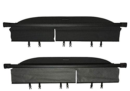 (caartonn Cargo Cover Compatible for 2014 2015 2016 2017 2018 Toyota Highlander Trunk Retractable Cargo Luggage Security Shade Cover Shield Black(not fit that has 2 captains chairs) )
