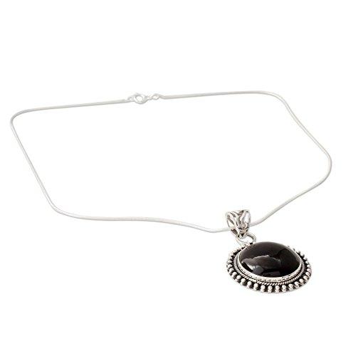 NOVICA Onyx .925 Sterling Silver Pendant - Oxidized Black Onyx Necklace Shopping Results