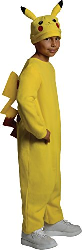 Pokemon Child's Deluxe Pikachu Costume - One Color - Medium - Pokemon Halloween Costumes For Boys