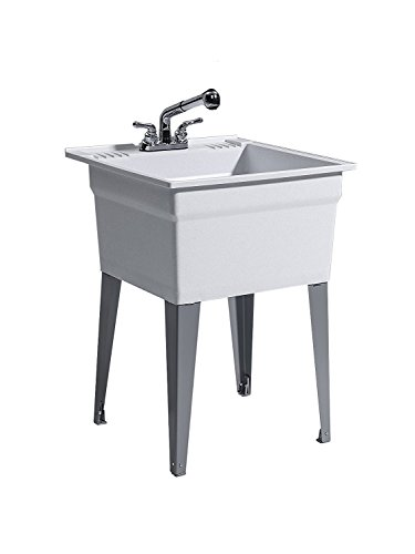 CASHEL 1960-32-22 Heavy Duty Sink - Fully Loaded Sink Kit, Steel Leg, Granite by CASHEL