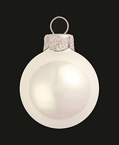 Pearl Polar White Glass Ball Christmas Ornament 7