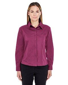 Ultraclub Ladies Whisper Twill Shirt - Ultraclub Ladies Whisper Twill Shirt 8976 -Wine XS