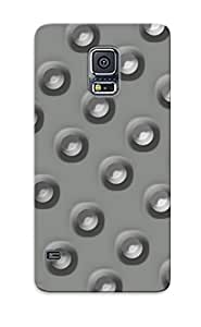 Crazinesswith Perfect Metallic Circle Pattern Case Cover Skin With Appearance For Galaxy S5 Phone Case