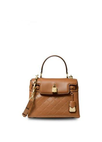 Michael Kors Gramercy Chain Embossed Leather Top Handle Satchel (Acorn)
