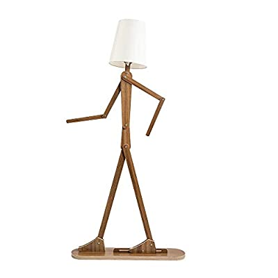 HROOME Modern Contemporary Decorative Wooden Floor Lamp Light with Fold White Fabric Shade Adjustable Height Standing Light for Living Room Bedroom Office 160cm Unique Design DIY Man Lamps (Walnut) - Trust material : The lamp body is made of plywood, firm and chemical-free. Material of the lampsade is fabric cloth, classical and elegant. Easy to use and store:The lamp is adjustable,you can adjust the angle and height as you like. With the special design, it can be stored in a small space. Features:AC 110-220V ,E26 screw socket easy to install,1.6m cord with button switch.Suitable for living room ,bedroom,office and so on . - living-room-decor, living-room, floor-lamps - 31oBlmEXwzL. SS400  -