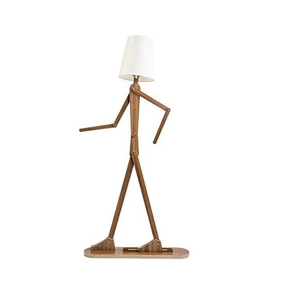 HROOME Modern Contemporary Decorative Wooden Floor Lamp Light with Fold White Fabric Shade Adjustable Height Standing Light for Living Room Bedroom Office 160cm Unique Design DIY Man Lamps (Walnut) - Trust material : The lamp body is made of plywood, firm and chemical-free. Material of the lampsade is fabric cloth, classical and elegant. Easy to use and store:The lamp is adjustable,you can adjust the angle and height as you like. With the special design, it can be stored in a small space. Features:AC 110-220V ,E26 screw socket easy to install,1.6m cord with button switch.Suitable for living room ,bedroom,office and so on . - living-room-decor, living-room, floor-lamps - 31oBlmEXwzL. SS570  -