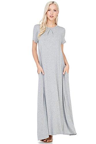 12-ami-pleat-front-short-sleeve-pocket-maxi-dress-grey-l