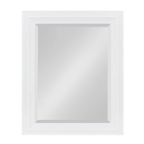 Kate and Laurel Whitley Framed Wall Mirror, 23.5x29.5, - Mirrors Bathroom Framed White Small