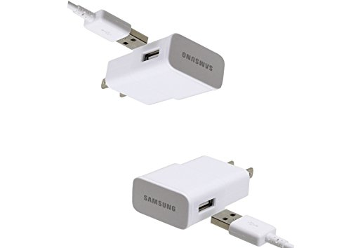 Samsung Travel Charger for Galaxy S3/S4/Note 2 & Other Smartphones, 2 Pack - Non-Retail Packaging - White
