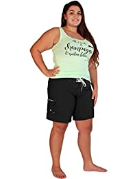 bc6fcf987e Maui Mermaids Womens Plus Size Bathing Suit Swim Shorts Board Shorts