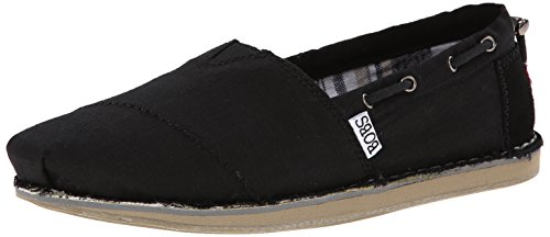 BOBS from Skechers Women's Chill Slip-On Flat, Black, 6.5...