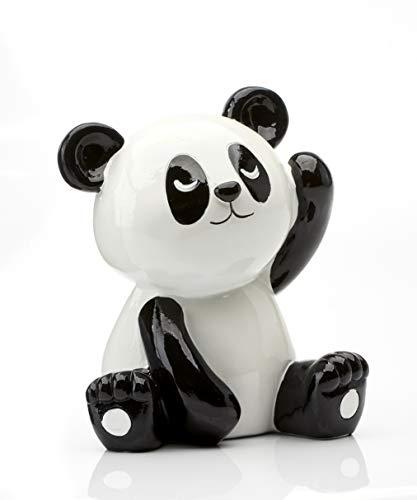 (Gift Craft Tropical Retreat Panda Black and White 6 x 5 Resin Stone Toy Money Bank)